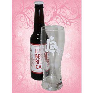 1 Botella de La Ibérica + vaso diseño LA
